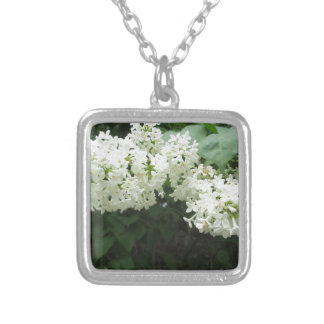 Lilac White Silver Plated Necklace