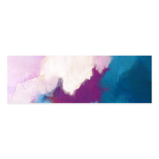 Lilac with Aqua Modern Abstract Painting - KT 2013 Double-Sided Mini Business Cards (Pack Of 20)