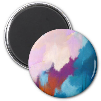 Lilac with Aqua Modern Abstract Painting - KT 2013 Magnet