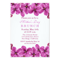 Lilac Wreath Mother's Day Brunch Invitation