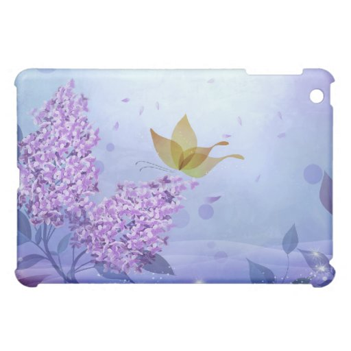 Lilacs and Butterflies Case For The iPad Mini