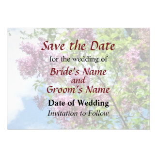 Lilacs and Clouds Save the Date Invite