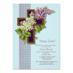 "Lilacs and Crucifix Easter Invitation 5"" X 7"" Invitation Card"