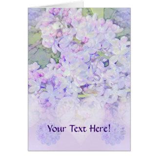 Lilacs and Hearts Card