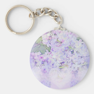 Lilacs and Hearts Key Chains