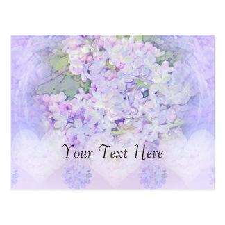 Lilacs and Hearts Postcard