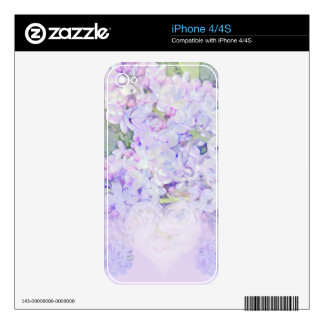 Lilacs and Hearts Skins For iPhone 4