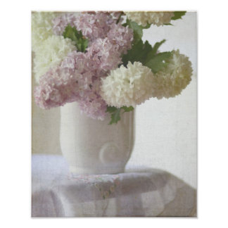 Lilacs and hydrangeas poster