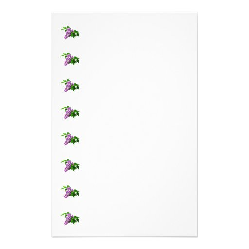 Lilacs and Leaves Stationery Design