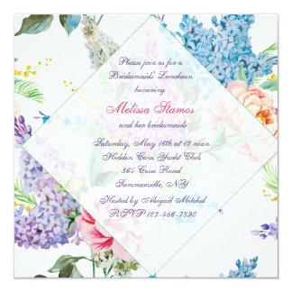 Lilacs and Peonies Invitation