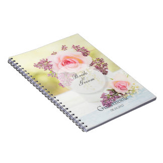 Lilacs and Roses Vintage Wedding guest book