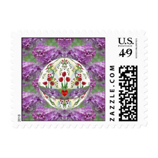Lilacs and Tulips Love Stamps