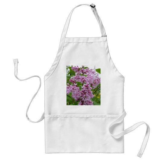 Lilacs Blooming Adult Apron