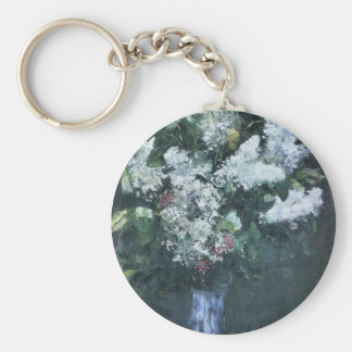 Lilacs by Lesser Ury Key Chain