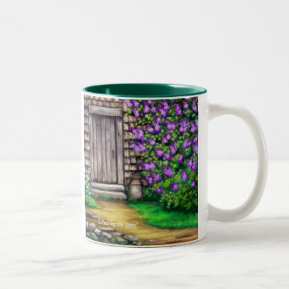 """Lilacs by the Barn ""Original Art Coffee Mug"