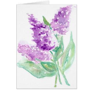 Lilacs Card