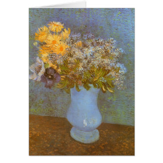 Lilacs, Daisies and Anemones by Vincent van Gogh Card