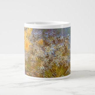 Lilacs Daisies and Anemones by Vincent van Gogh Jumbo Mugs
