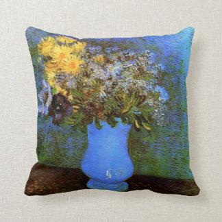 Lilacs Daisies Anemones (F322)Van Gogh Fine Art Throw Pillow