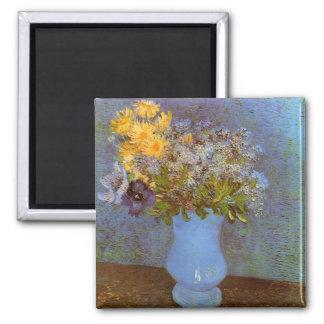 Lilacs Daisies & Anemones Van Gogh Fine Art Magnet
