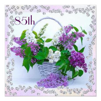 Lilacs & Diamonds 85th Birthday Card