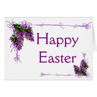 Lilacs Easter Card (Large Font)