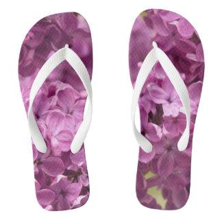Lilacs Flowers Flip Flops
