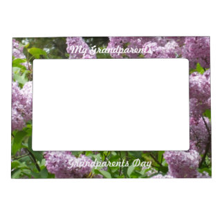 Lilacs for  Grandparents on Their Day Magnetic Picture Frames