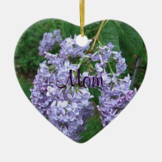 Lilacs for Mom Christmas Ornament