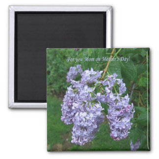 Lilacs for Mother's Day 2 Inch Square Magnet