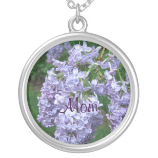 Lilacs for Mothers Day Silver Plated Necklace