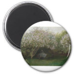 Lilacs, Grey Weather (1872) 2 Inch Round Magnet