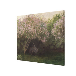 Lilacs, Grey Weather, 1872 Canvas Print