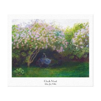 Lilacs, Grey Weather Claude Monet Canvas Print