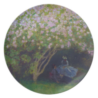 Lilacs, Grey Weather Claude Monet Dinner Plate