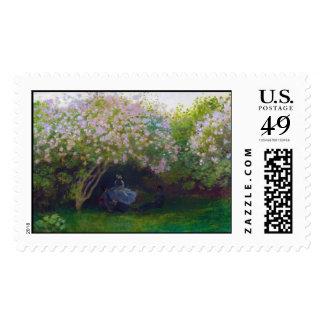 Lilacs, Grey Weather Claude Monet Postage