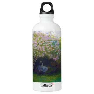 Lilacs, Grey Weather Claude Monet Water Bottle