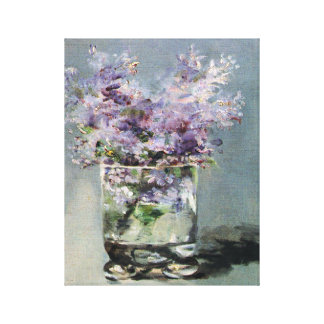 Lilacs in a Glass  by Edouard Manet Canvas Print