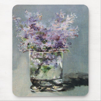 Lilacs in a Glass  by Edouard Manet Mouse Pad