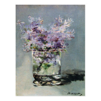 Lilacs in a Glass by Edouard Manet Postcards