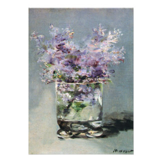 Lilacs in a Glass by Manet Bridal Shower Card