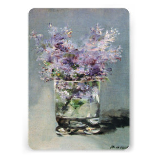 Lilacs in a Glass by Manet Bridal Shower Personalized Invites