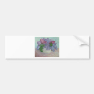 Lilacs in a vase bumper sticker