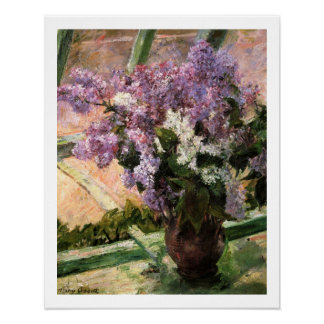 Lilacs in a Window by Mary Cassatt Posters