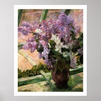 Lilacs in a Window by Mary Cassatt Poster