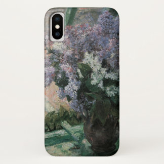 Lilacs in a Window by Mary Cassatt, Vintage Art iPhone X Case