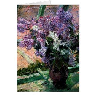 Lilacs in a Window Card
