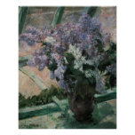 Lilacs in a Window, Cassatt, Vintage Impressionism Print
