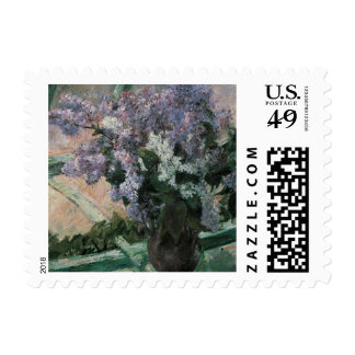 Lilacs in a Window Postage Stamp