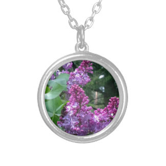 Lilacs In Bloom Silver Plated Necklace